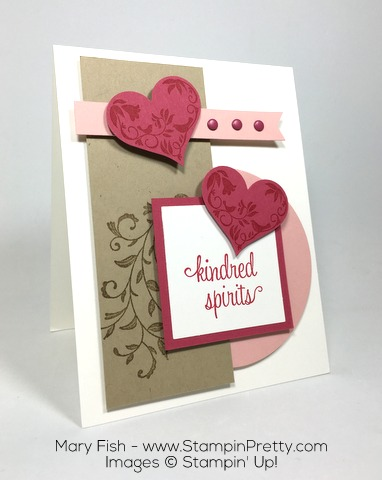 Stampin Up First Sight Valentine Day Card By Mary Fish Heart Punch