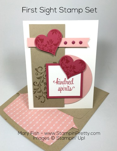 Stampin Up First Sight Valentine Day Card By Mary Fish Pinterest