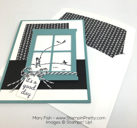 Stampin Up Happy Home Hearth Thinlits Dies by Mary Fish Envelope Liner