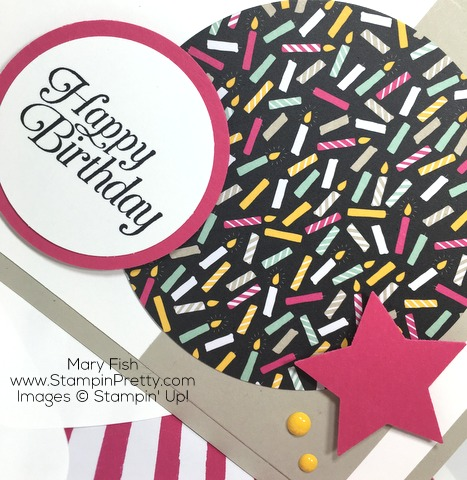 Stampin Up Its My Party Birthday Card By Mary Fish Star Punch