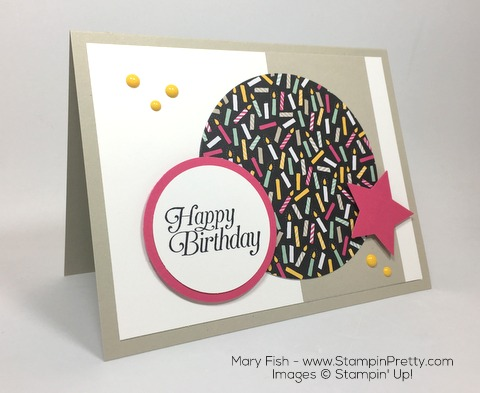 Stampin Up Its My Party Birthday Card By Mary Fish