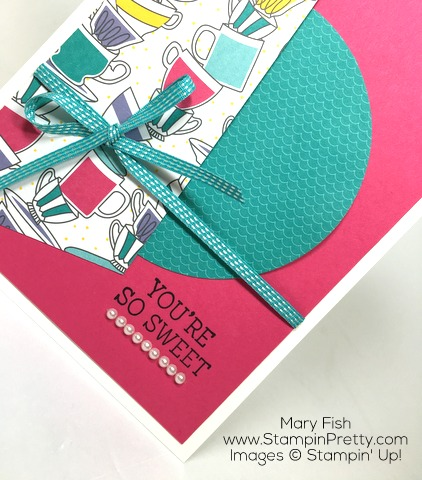 Stampin Up Nice Cuppa Thank You Card Idea By Mary Fish