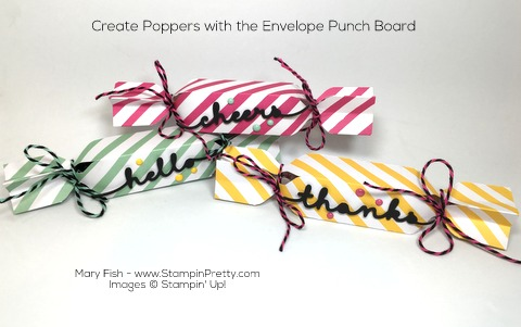 Stampin Up! Poppers Envelope Punch Board By Mary Fish Pinterest