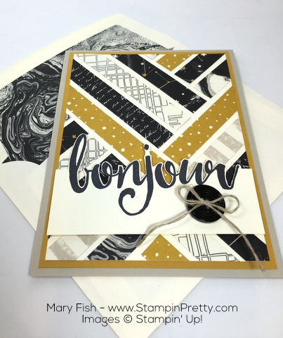 Stampin Up Salut Bonjour Card Ideas by Mary Fish
