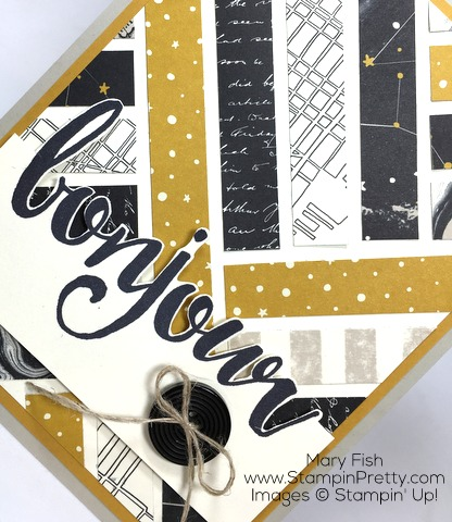 Stampin Up Salut Bonjour Cards Idea by Mary Fish