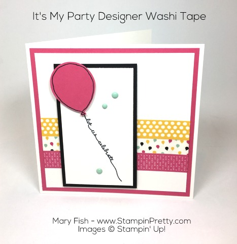 stampin up balloon punch birthday card idea mary fish pinterest