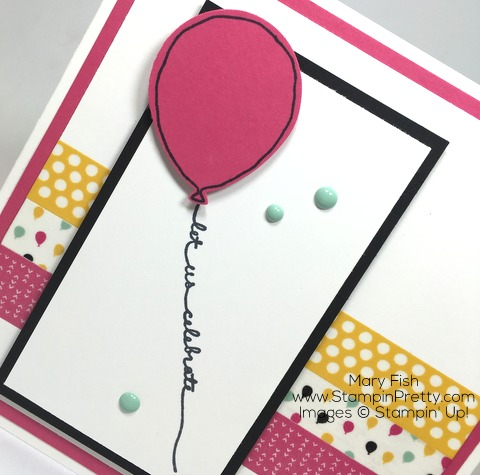 Its My Party Washi Tape Birthday Card Stampin Pretty