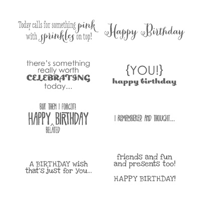 Stampin Up Remembering Your Birthday