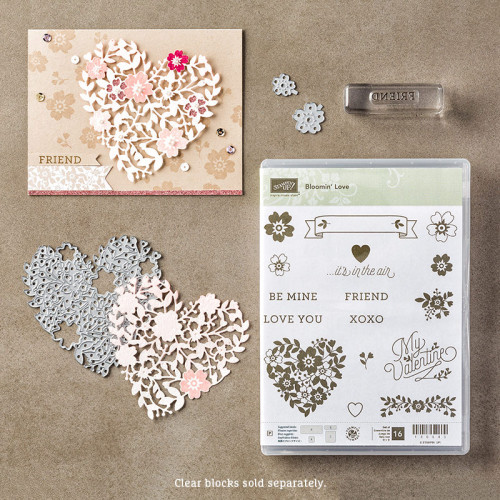 Blooming Love Stamp Set Bloomin' Heart Thinlits Dies