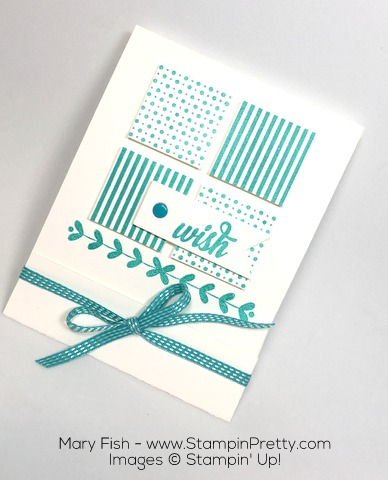 Create a Matchbook Gift Card Holder with Stampin Up Enjoy the Little Things and Square Punch -Mary Fish
