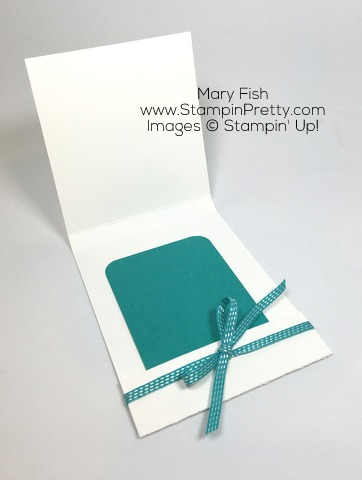 Create a Simple Matchbook Gift Card Holder with Stampin Up Enjoy the Little Things -Mary Fish