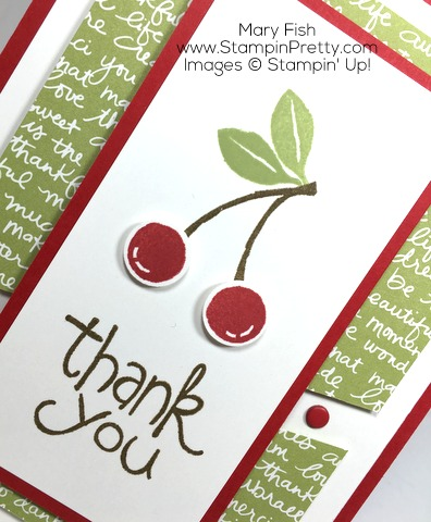 Create thank you cards with Stampin Up Apple of My Eye - by Mary Fish