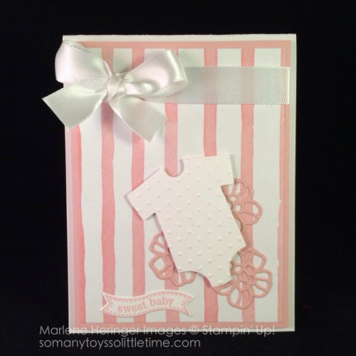 Pals Paper Crafting Card Ideas Baby Card Mary Fish Stampin Pretty StampinUp