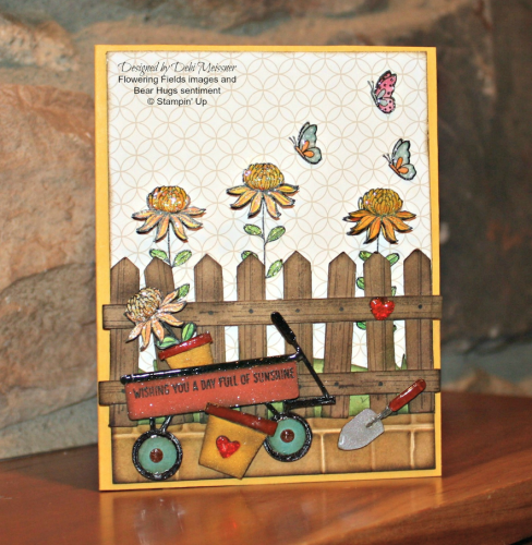 Pals Paper Crafting Card Ideas Flowering Fields Mary Fish Stampin Pretty StampinUp