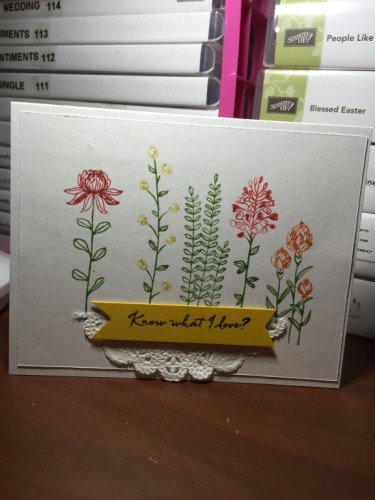 Pals Paper Crafting Card Ideas Wildflowers Mary Fish Stampin Pretty StampinUp