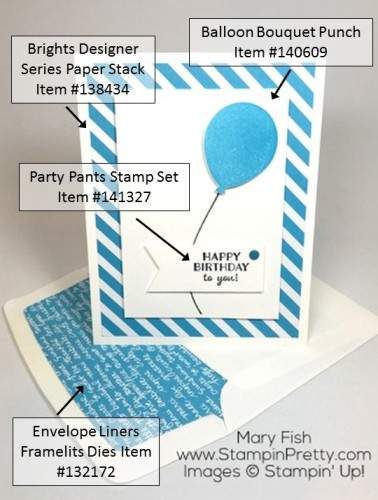 Stampin Up Party Pants Card