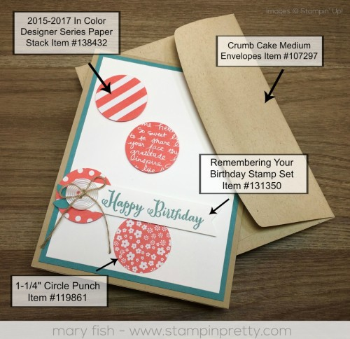 Stampin Up Remembering Your Birthday Product Guide - Mary Fish