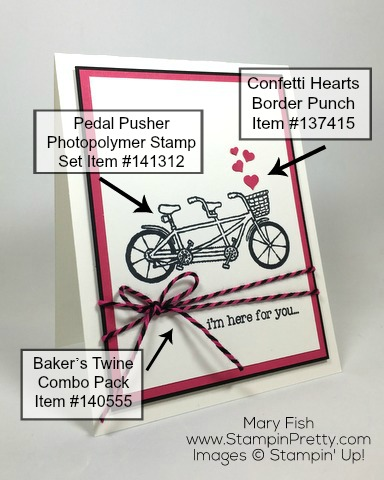 Simple-friendship-card-by-Mary-Fish-using-Stampin-Up-Pedal-Pusher-stamp-set-and-Bakers-Twine