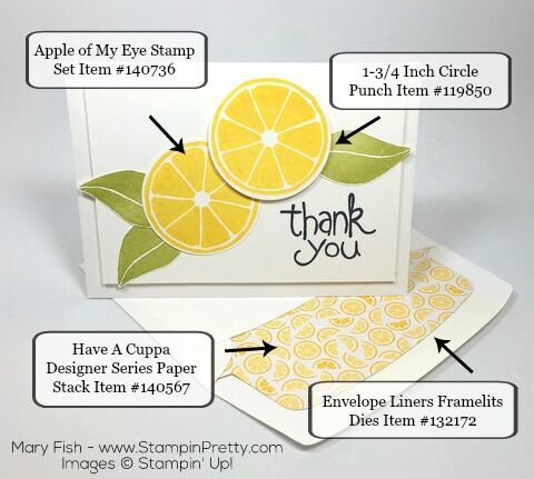 Stampin Up Apple of My Eye Thank You Card Product List