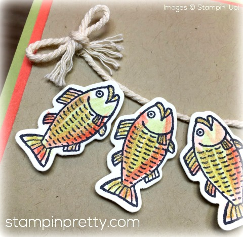 Stampin Up Bear Hugs Fish Masculine Card - Mary Fish - Shop for StampinUp