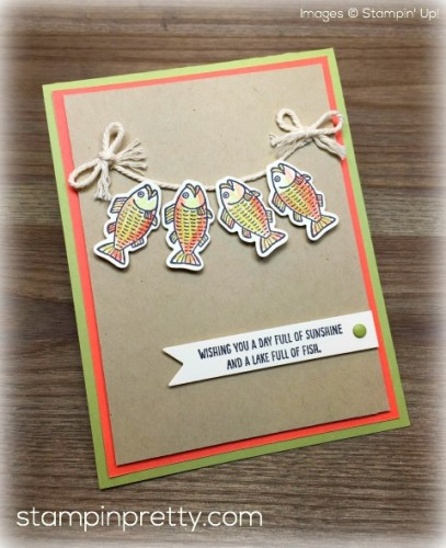 Stampin Up Bear Hugs Fish Masculine Cards - Mary Fish StampinUp