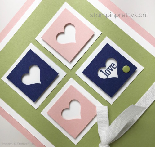 Stampin Up Love Card Idea Heart Punch - Mary Fish StampinUp