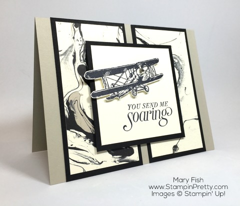 Stampin Up Masculine Card Idea Using Sky Is Limit Plane By Mary Fish
