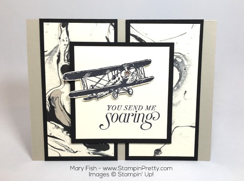 Stampin Up Masculine Card Idea Using Sky Is the Limit Plane By Mary Fish