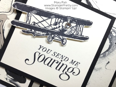 Stampin Up Masculine Card Ideas Using Sky Is the Limit Plane By Mary Fish