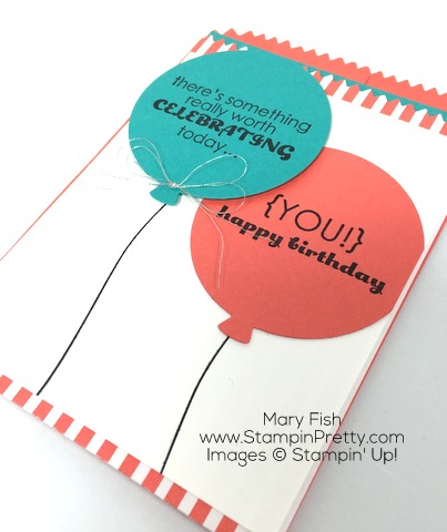 Stampin Up Mini Treat Bag Thinlits Die combine with Remembering Your Birthday - By Mary Fish