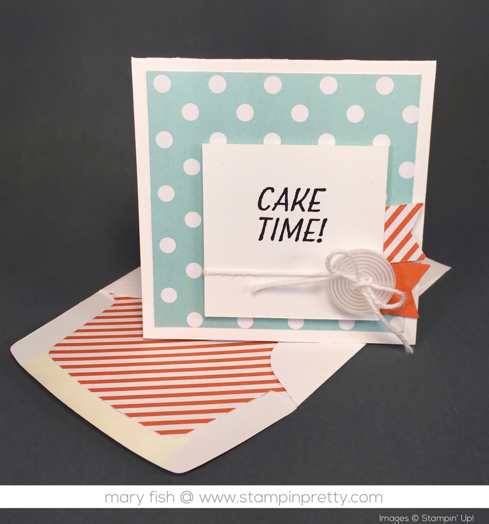 Cake Time 3 X 3 Birthday Card Stampin Pretty