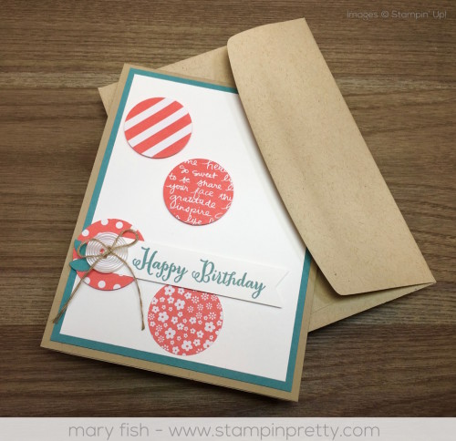 Stampin Up Remembering You Birthday Card By Mary Fish