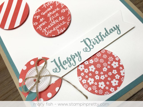 Stampin Up Remembering Your Birthday Card - Mary Fish. Shop StampinUp