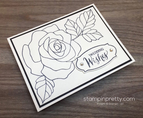 Stampin Up Rose Wonder Wedding Card Idea - Mary Fish StampinUp