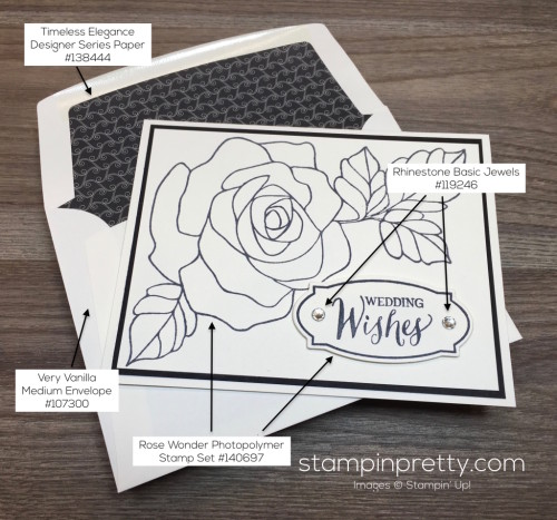 Stampin Up Rose Wonder Wedding Card Ideas - Mary Fish StampinUp copy