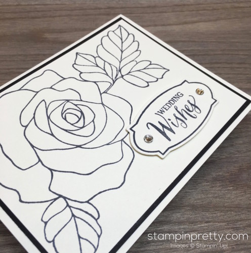 Stampin Up Rose Wonder Wedding Card - Mary Fish StampinUp