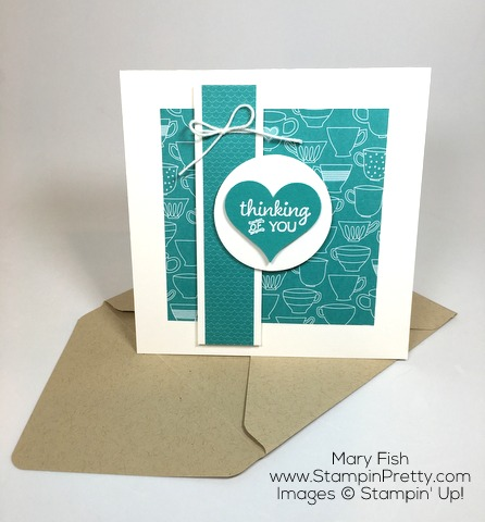 Stampin Up Thinking of You Sympathy Card and Envelope Idea Using Party Pants By Mary Fish