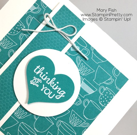 Stampin Up Thinking of You Sympathy Cards Idea Using Party Pants By Mary Fish