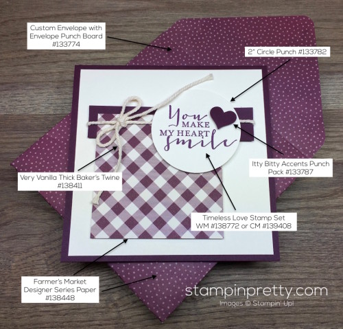 Stampin Up Timeless Love Card Ideas - Mary Fish StampinUp Product List