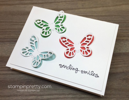 Stampin Up Bold Butterfly Greatest Greetings Card Mary Fish StampinUp