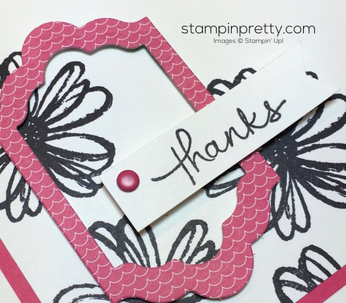 Stampin Up Flower Shop Lots of Labels Framelits Dies Thank You Cards - Mary Fish