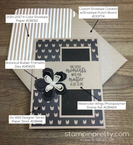 Stampin Up Friendship Love Card Envelope Supply List - Mary Fish