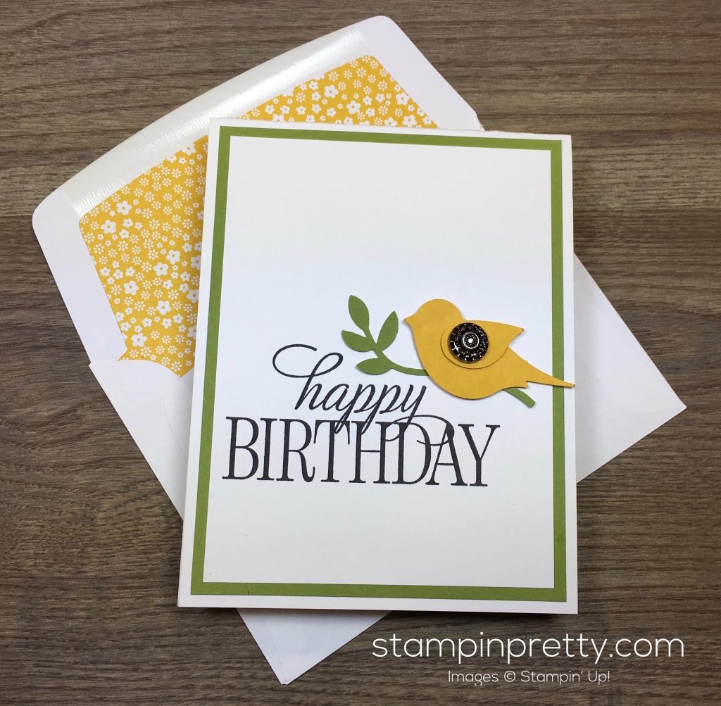 Simple Saturday Happy Birthday Card | Stampin' Pretty
