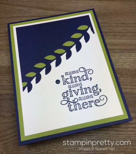 Stampin Up Me = Grateful Thank You Card Botanical Builder Dies - Mary Fish