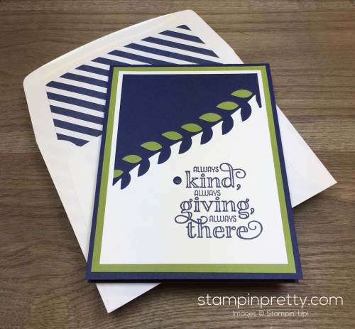Stampin Up Me = Grateful Thank You Card Envelope - Mary Fish