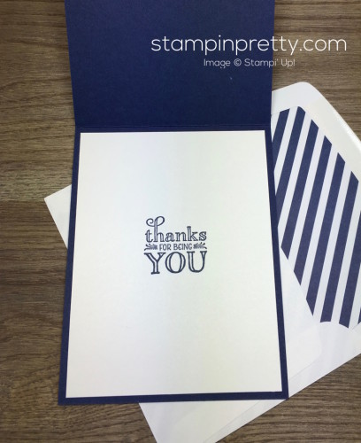 Stampin Up Me = Grateful Thank You Card Interior Idea - Mary Fish