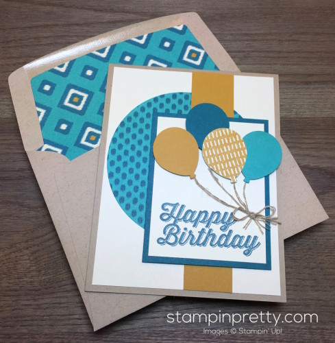 Stampin Up Perfect Pairings Balloon Bouquet Punch Birthday Card - Mary Fish
