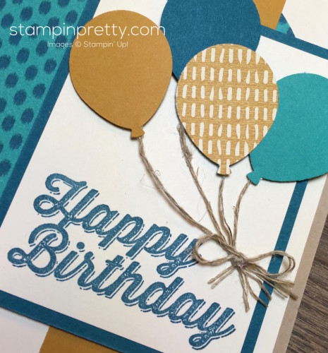 Stampin Up Perfect Pairings Birthday Card Idea - Mary Fish StampinUp