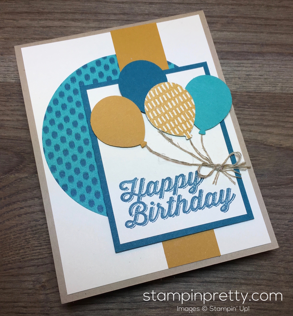 Balloon bouquet happy birthday card stampin 39 pretty for Mary fish stampin up
