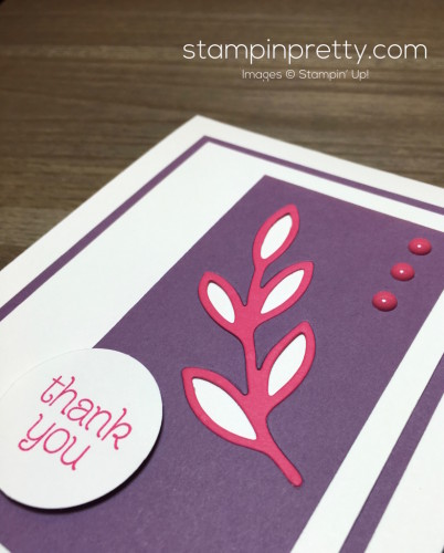 Stampin Up Rose Garden Die Thank You Card Idea - Mary Fish StampinUp
